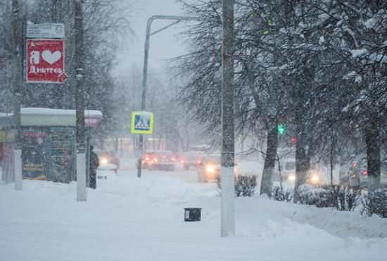 Снегопад в Дмитрове, 2018